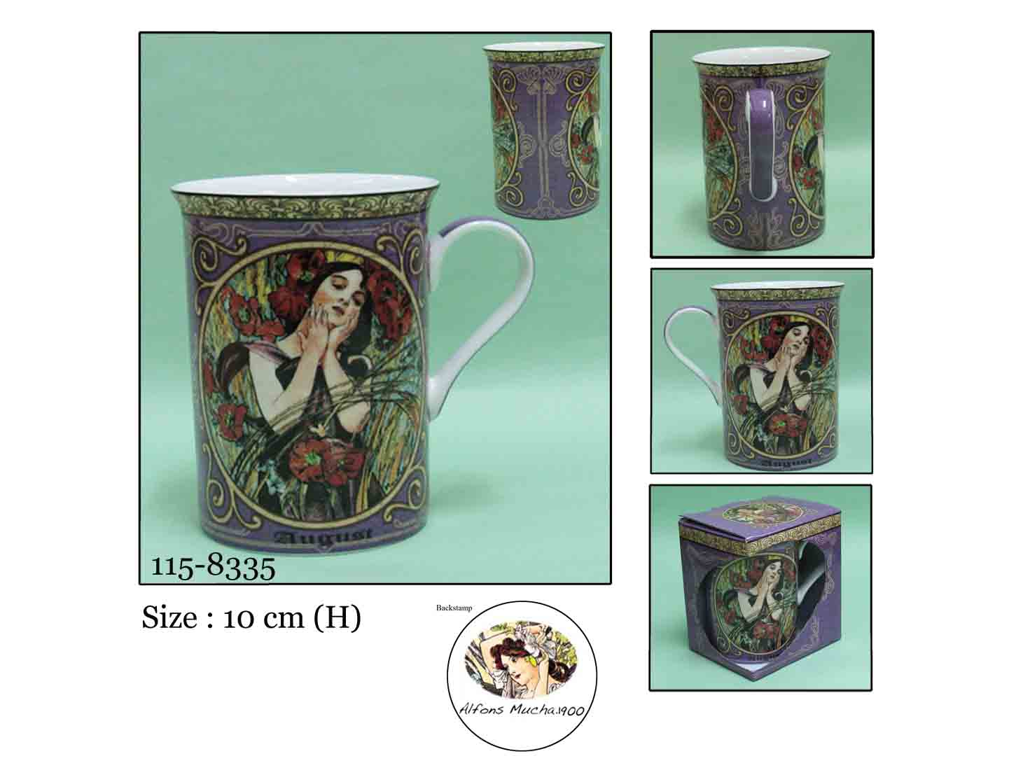 Hrnek porcelán 250ml AUGUST - SRPEN Mucha