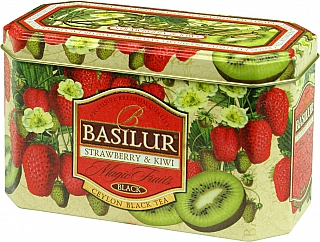 Čaj - BASILUR Magic Strawberry & Kiwi plech 20x2g
