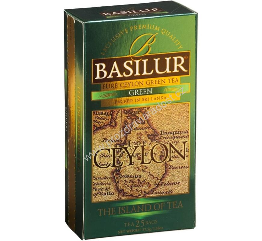 Čaj - Basilur Island of Tea Green nepř. 25 x 1,5 g